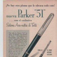 Coleccionismo: ANUNCIO PUBLICIDAD ESTILOGRAFICAS PARKER. Lote 233380820