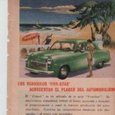 Coleccionismo: ANUNCIO PUBLICIDAD AUTOMOVILES FORD -MAQUINILLAS DE AFEITAR EVERSHARP SCHICK. Lote 233388100