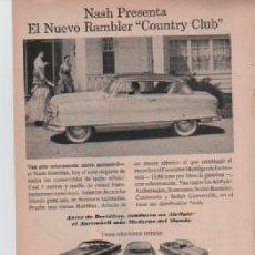 Coleccionismo: ANUNCIO PUBLICIDAD AUTOMOVILES NASH-ESTILOGRAFICA EVERSHARP. Lote 233390100