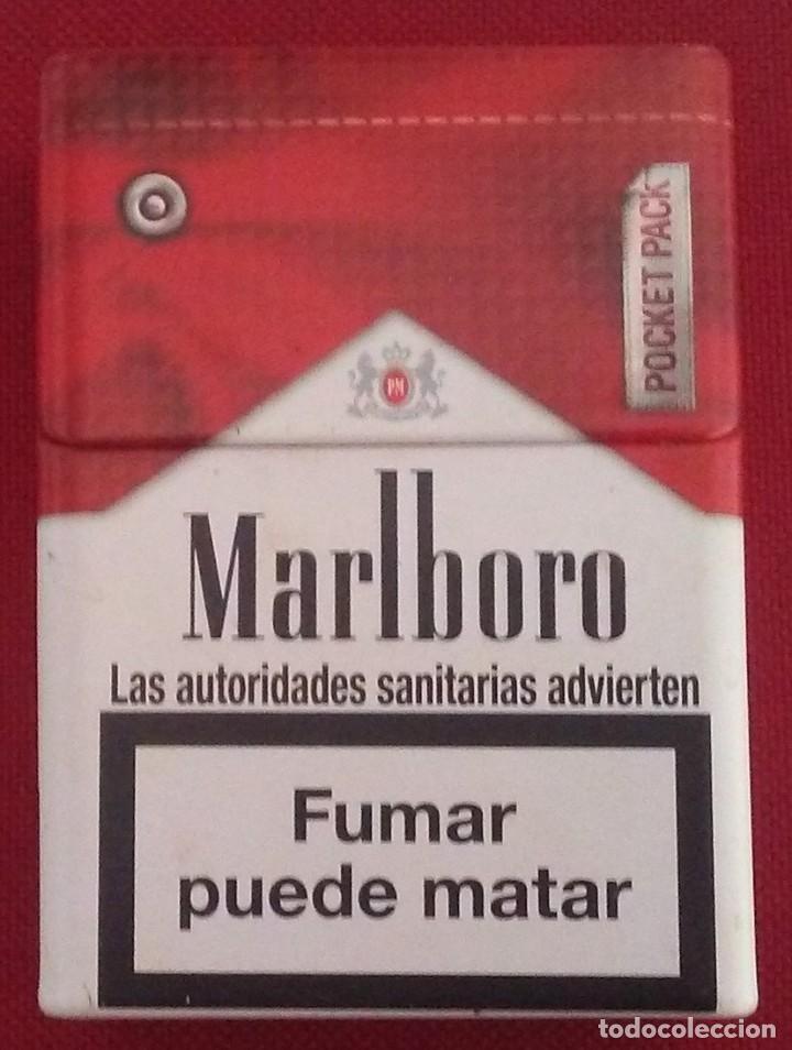 PITILLERA METALICA MARLBORO POCKET (Coleccionismo - Objetos para Fumar - Otros)