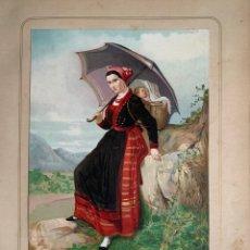 Collezionismo: VEGA DEL PAS. SANTANDER 1872 CROMOLITOGRAFÍA . LAS MUJERES ESPAÑOLAS. GUIJARRO.. Lote 234034650
