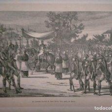 Coleccionismo: CATALUÑA GUERRA DE LA INDEPENDENCIA TARRAGONA REUS EL GENERAL SUCHET SE HACE LLEVAR BAJO PALIO EN. Lote 234313185