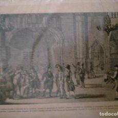 Coleccionismo: GUERRA DE LA INDEPENDENCIA DE CATALUÑA LOS PATRICIOS QUE HABIAN TOCADO A SOMATEN EN LA CATEDRAL CUAN. Lote 234334325