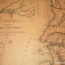 Coleccionismo: MAPA EN LIENZO DE LA GUINEA ESPAÑOLA (REPRODUCCIÓN). Lote 234402970