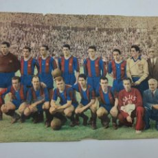 Coleccionismo: LAMINA F.C.BARCELONA ( AÑOS 50 ) CHOCOLATES BATANGA ( FUTBOL ) VER FOTOS. Lote 234912375