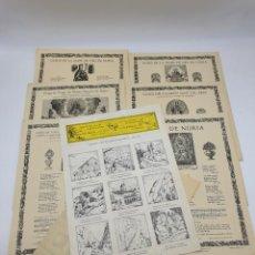 Coleccionismo: LOTE AUCAS, GOIGS, ETC, RELACIONADAS CON EL SANTUARIO DE NURIA ( VER FOTOS ). Lote 234916050