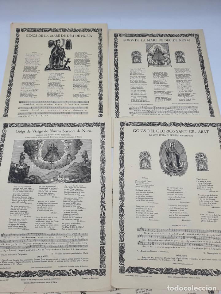 Coleccionismo: LOTE AUCAS, GOIGS, ETC, RELACIONADAS CON EL SANTUARIO DE NURIA ( VER FOTOS ) - Foto 2 - 234916050