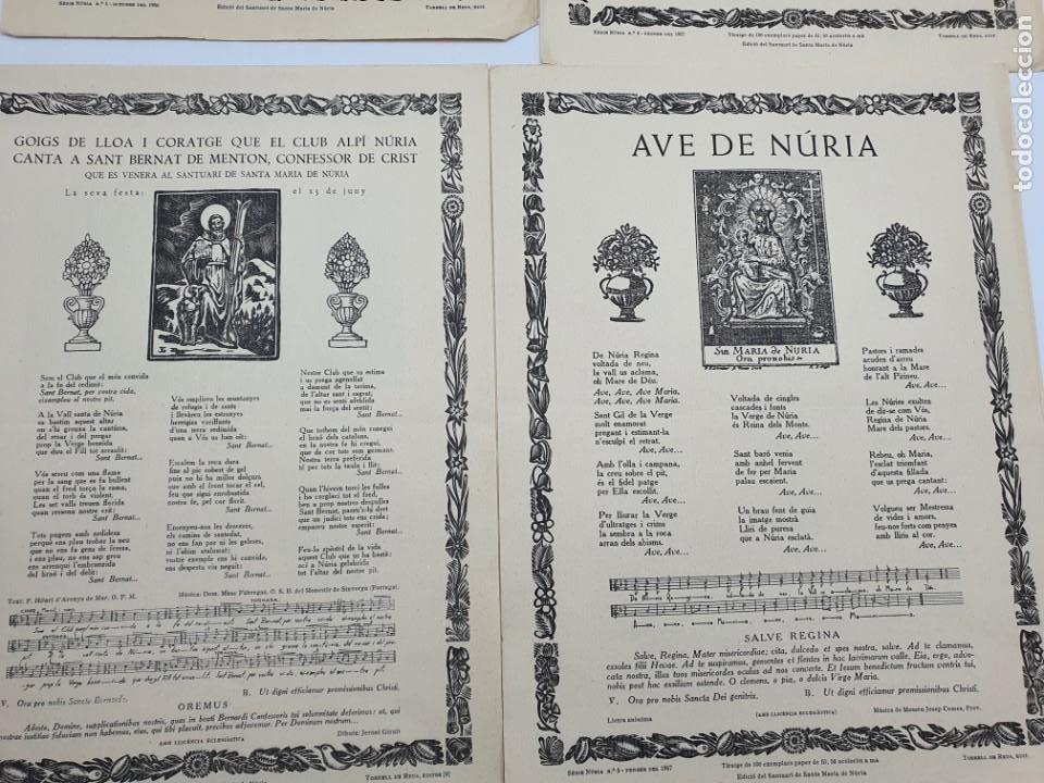 Coleccionismo: LOTE AUCAS, GOIGS, ETC, RELACIONADAS CON EL SANTUARIO DE NURIA ( VER FOTOS ) - Foto 3 - 234916050