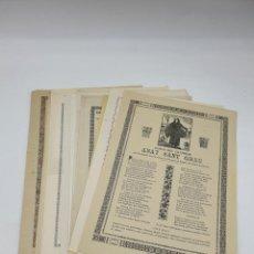 Coleccionismo: LOTE 18 GOIGS SIGLO XIX Y XX ( CATALÀN ) VER FOTOS. Lote 234917555