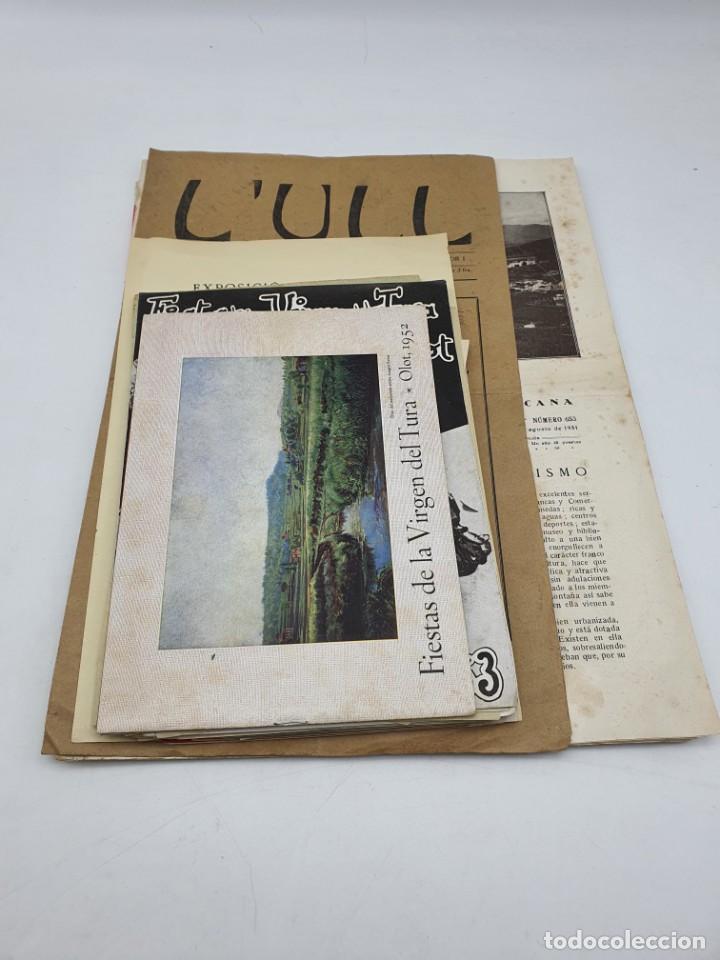 LOTE ESCRITOS RELACIONADOS CON OLOT ( VARIADOS ) VER FOTOS (Coleccionismo - Laminas, Programas y Otros Documentos)
