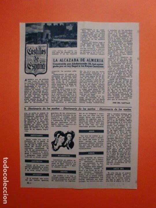 LA ALCAZABA DE ALMERIA ETREGADA POR EL REY ZAGAL A LOS REYES CATOLICOS - 16/2/1957 (Coleccionismo - Laminas, Programas y Otros Documentos)