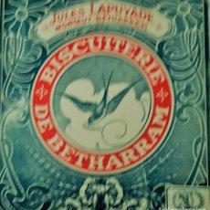 Coleccionismo: ETIQUETA DE GALLETAS LUPE LAÙYADE MONTAUT BETHARRAM BISCUITERIE DE BETHARRAN MEDAILLES D OR DE VERME. Lote 235349500