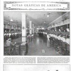Coleccionismo: AÑO 1919 RECORTE PRENSA TREN INGENIERIA AMERICANA LOCOMOTORA PARA GRANDES PENDIENTES COMPAÑIA ERIE. Lote 235528190