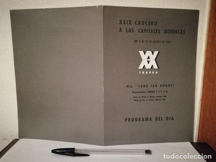 PROGRAMA ORIGINAL - XXIX CRUCERO YBARRA A LAS CAPITALES NORDICAS - BARCO - AÑO 1975 - DEL DIA (Coleccionismo - Laminas, Programas y Otros Documentos)