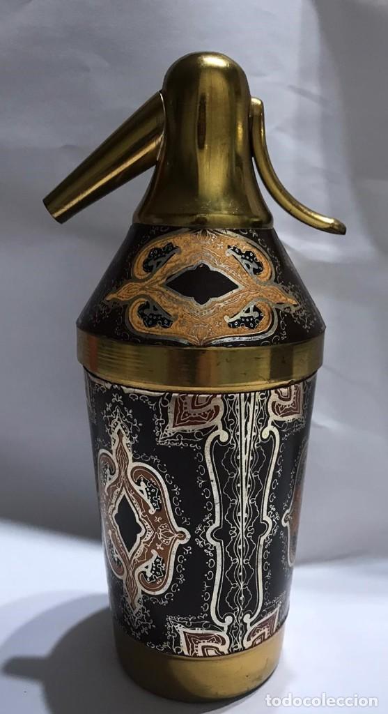 Coleccionismo: ANTIGUA CIGARRERA CON FORMA DE SIFON - Foto 5 - 235837015
