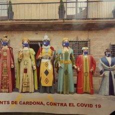 Collectionnisme: ELS GEGANTS DE CARDONA NUMERO DE LOTERIA/ SOLO PROPAGANDA. NO ESTA EL NUMERO YA QUE ESTA PREMIADO.. Lote 236341885
