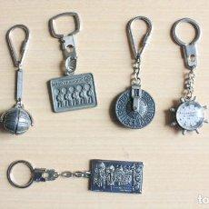Coleccionismo: LOTE DE 7 LLAVEROS METALICOS CONMEMORATIVOS LOTERIA NACIONAL. Lote 236437375