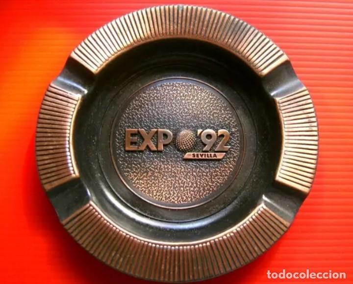 CENICERO METALICO EXPO 92 SEVILLA 1992 - ENVÍO GRATIS (Coleccionismo - Varios)