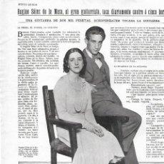 Coleccionismo: AÑO 1930 RECORTE PRENSA MUSICA REGINIO SAINZ DE LA MAZA GUITARRISTA GUITARRA. Lote 236683090