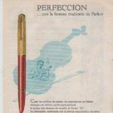 Coleccionismo: ANUNCIO PUBLICIDAD ESTILOGRAFICAS PARKER -VIAJES WAGONS LITS COOK. Lote 236737980