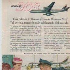 Coleccionismo: ANUNCIO PUBLICIDAD AERONAVES DOUGLAS-SOPAS AVECREM. Lote 236790745