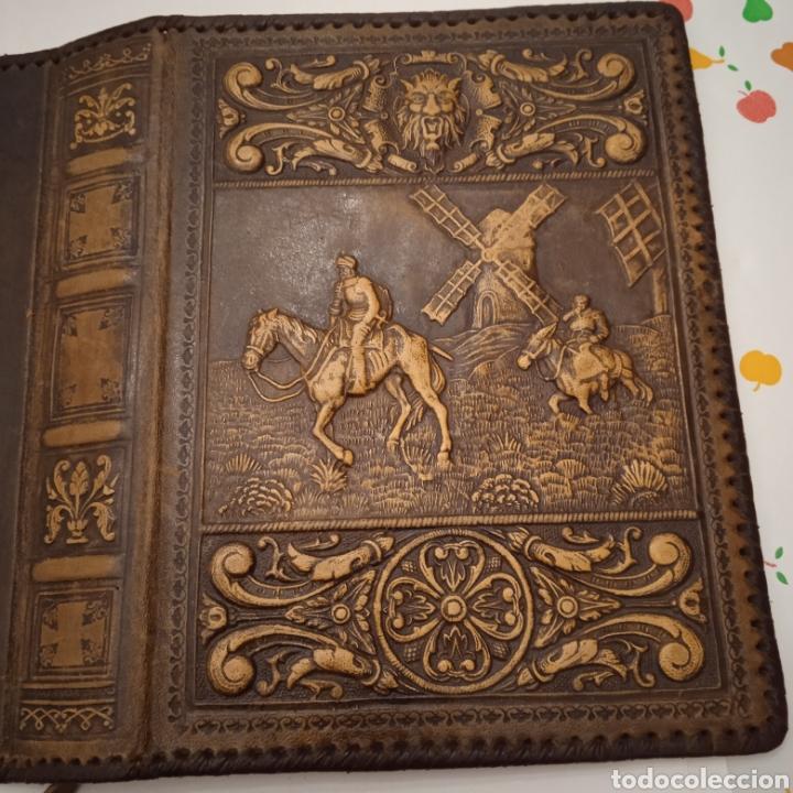 Coleccionismo: TAPAS DE CUERO EL QUIJOTE - Foto 2 - 237022450