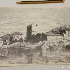 Coleccionismo: ANTIGUA LAMINA CASTELL D'ES PORT D'ANDRAITX MALLORCA. Lote 237129715