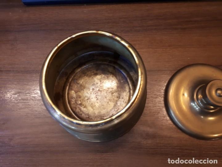 Coleccionismo: Interesante tabaquera, purera en latón. Vintage. - Foto 11 - 237162040