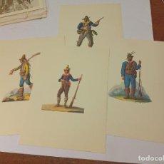 Coleccionismo: 4 EXQUISITAS LAMINAS COLOR BANDOLEROS CALABRESES NAPOLITANOS - NAPOLI BRIGANTE. Lote 237182780