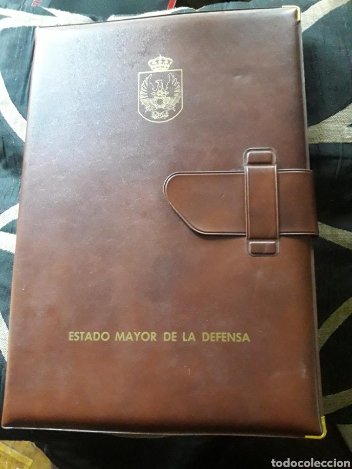 CARPETA DE PIEL, PORTADOCUMENTOS, ESTADO MAYOR DE LA DEFENSA (Coleccionismo - Varios)
