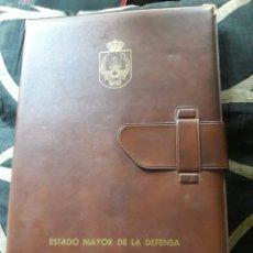 Coleccionismo: CARPETA DE PIEL, PORTADOCUMENTOS, ESTADO MAYOR DE LA DEFENSA. Lote 237314150
