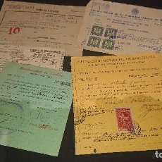 Collezionismo: LOTE DE 5 DOCUMENTOS , MANCOMUNIDAD CATALUÑA 1924 , RAMALES A PLAZOS 1934 , TARJE . LEER DESCRIPCION. Lote 239664515