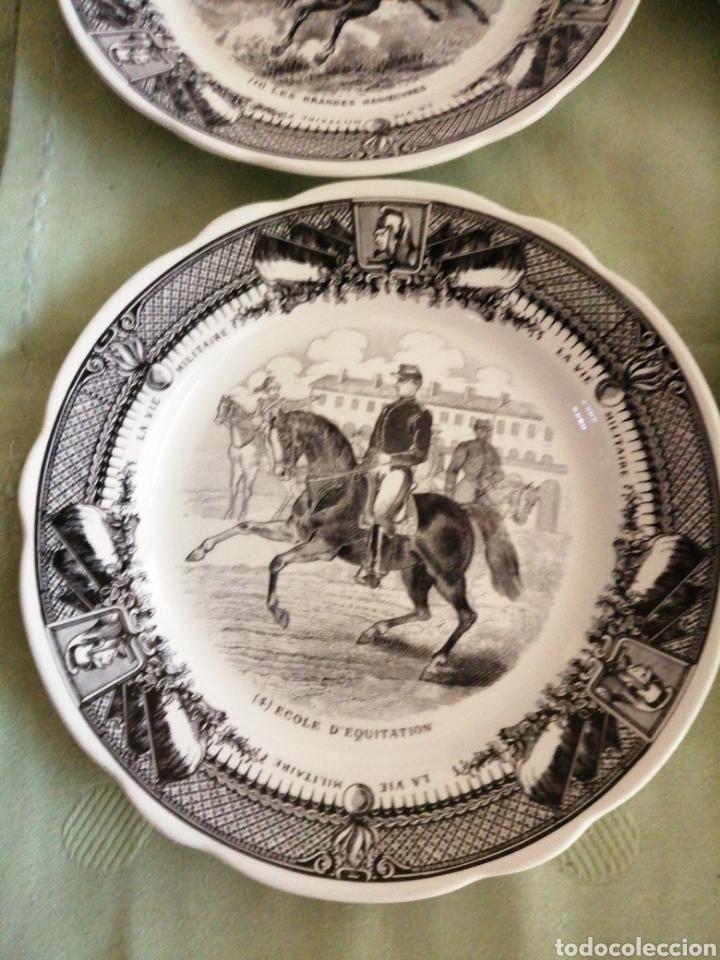Coleccionismo: Platos en porcelana francesa - Foto 4 - 239820840