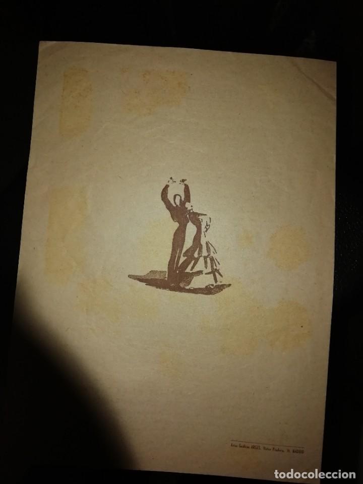 Coleccionismo: Programa diptico ballet pilar López con José greco años 50 - Foto 3 - 191295365