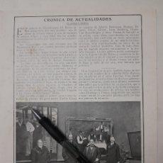 Coleccionismo: EN EL PALACIO DE BELLAS ARTES DEL RETIRO (EL REY CON JOAQUÍN SOROLLA)/ OTRAS EXPOSICIONES. 1916. Lote 240705995
