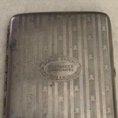 Collezionismo: PITILLERA DE METAL - GARAJE SANCHO - SANTANDER - LUBRIFICANTES, NEUMÁTICOS Y ACCESORIOS. Lote 241140115