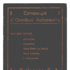 Coleccionismo: CASTELLAR DEL VALLES - FESTES DE 1915 - PROGRAMA - ANUNCIOS DE LA ÉPOCA - 136X99 - INÉDITO EN TODOC.. Lote 241983325