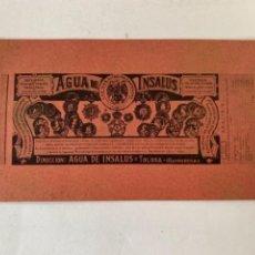 Coleccionismo: ANUNCIO PUBLICITARIO DE AGUA DE INSALUS, AÑOS 40. Lote 242339685