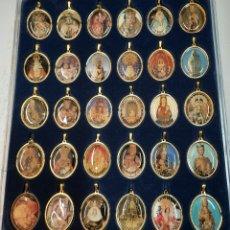 Collezionismo: COLECCION 30 MEDALLAS. DEVOCIONES DE LA VIRGEN EN ESPAÑA. Lote 242437120