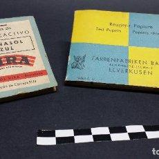 Coleccionismo: LIBRITOS DE PAPEL REACTIVO, BAYER Y VIRA.. Lote 242863110