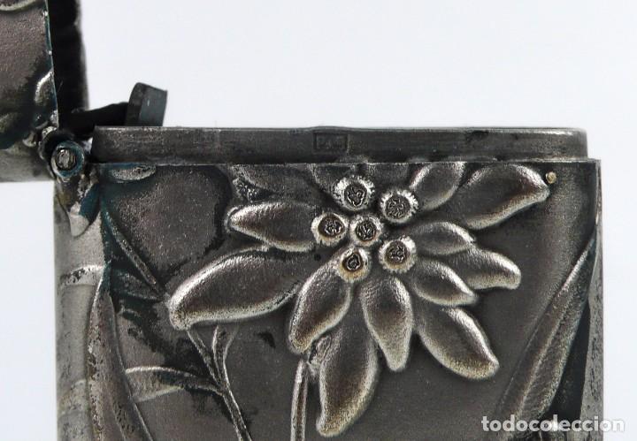 Coleccionismo: Mistera, caja de cerillas - metal y baño de plata - Art Nouveau Ca.1900 - Foto 5 - 242895835