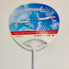 Coleccionismo: PAY PAY JAPAN AIRLINES (JAL). ABANICO PUBLICITARIO DOS CARAS LINEAS AÉREAS. IMPECABLE.. Lote 242941535