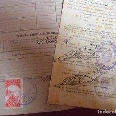 Collectionnisme: PEGO(ALICANTE)SERVICIO NACIONAL DEL TRIGO.DECLARACIONES COSECHAS 1940 Y 1944.. Lote 242981080
