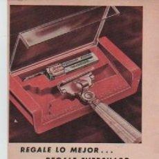 Coleccionismo: ANUNCIO PUBLICIDAD MAQUINILLAS DE AFEITAR EVERSHARP-COMPRESAS KOTEX. Lote 243130965