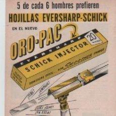 Coleccionismo: ANUNCIO PUBLICIDAD HOJAS DE AFEITAR EVERSHARP-RADIOS PHILCO. Lote 243132260