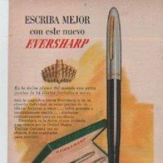 Coleccionismo: ANUNCIO PUBLICIDAD ESTILOGRAFICAS EVERSHARP - LABORATORIOS SQUIBB. Lote 243137485