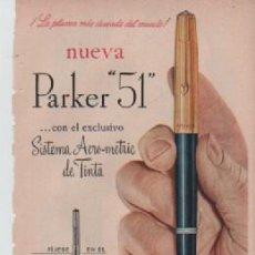 Coleccionismo: ANUNCIO PUBLICIDAD ESTILOGRAFICAS PARKER -COLONIA RAMILLETE DE NOVIA. Lote 243141860