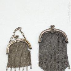 Collezionismo: LOTE 2 MONEDEROS DE MALLA EN METAL ( AÑOS 20 ). Lote 243594845