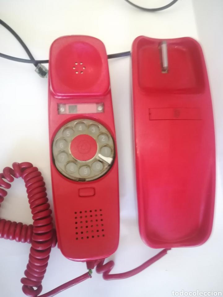 Coleccionismo: Teléfono Góndola Rojo, fabricado por Citesa. Años 70. - Foto 2 - 243818080