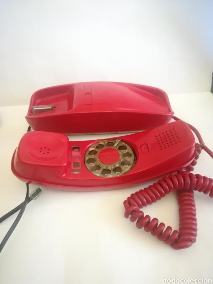 Coleccionismo: Teléfono Góndola Rojo, fabricado por Citesa. Años 70. - Foto 3 - 243818080
